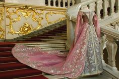Ceremonial Court Dress of Empress Maria Fyodorovna, (St. Petersburg, Russia): ca. 1870-1880, velvet, silk, tulle, lace metallic threads, wire, embroidery, plaiting.