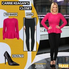 Top: Ted Baker Ohavia - Peplum Detail Sweater - $195 Pants: Zara High-Waist Leggings - $79.90 Pumps: Schultz Gilberta -$200 Chelsea Lately, Get The Look, Bob Hairstyles, Carrie, Carry On, Ted Baker, Peplum, Zara, Pumps