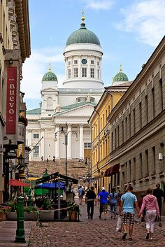 Helsinki - Finland (by Alessandro Grussu) Travel Around The World, Around The Worlds, Places To Travel, Places To Go, Europe Street, Lapland Finland, Great Places, Amazing Places, City Landscape