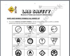 Worksheet Science Safety Symbols Worksheet science lab safety and labs on pinterest grade worksheets teaching scientific method life science