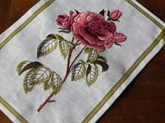 machine embroidered rose