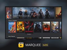 Movies and Trailers tvOS Apple TV App by impekable