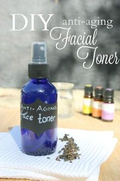 The best DIY projects & DIY ideas and tutorials: sewing, paper craft, DIY. DIY Skin Care Recipes : This diy anti-aging facial toner is filled with anti-oxidents, enzymes and amino acids. It's super simple too because chances Anti Aging Facial, Anti Aging Tips, Anti Aging Skin Care, Natural Skin Care, Creme Anti Age, Anti Aging Cream, Toner For Face, Facial Toner, Natural Face Toner