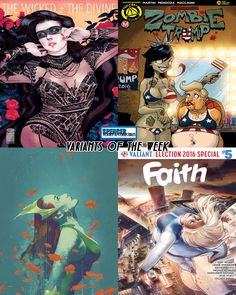 Our favorite variant comic book covers releasing on 11/02 for new comic book day. Wicked + The Divine #23 by Kevin Wada, Zombie Tramp #29 by Dan Mendoza, Aquaman #10 by Joshua Middleton, and Faith #5 by Meghan Hetrick. #comicbookart #ncbd