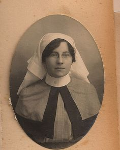 Nurse from yesteryear. They looked like this when my grandmother was a nurse before WWI ...