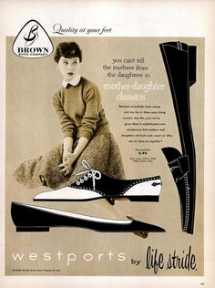 """Brown Shoe Company, """"Westports"""" by lifestride, 1950s"""
