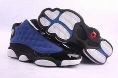 air jordan 13 retro black/blue shoes $85.99 http://www.jordandealershop.com