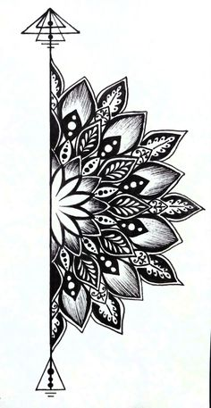 traditional mandala tattoo Best Picture For Tattoo Pattern floral For Your Taste You are looking for something, and it is going to tell you exactly what you are looking for, and you did Doodle Art Drawing, Mandala Drawing, Cool Art Drawings, Pencil Art Drawings, Tattoo Drawings, Tattoo Sketches, Zen Doodle, Easy Drawings, Drawing Ideas