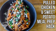 How to Make Pulled Chicken without a Slow Cooker Meal Prep Hack / Pollo ...