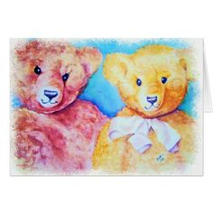 TEDDY BEAR FRIENDS CARD - birthday cards invitations party diy personalize customize celebration