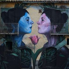 """artist: Francisco Bosoletti @bosoletti """"Alma en Venta"""" / """"Soul for Sale"""" Place: Bonito, Avellino, Italia Project: BOCA / Bonito Contest Art Ph: Salvatore Curcio Mural inspired by a problematic of this area, where are speculating with the installation of oil wells, which would ruin the main activity of the place, agriculture, and endanger the environment because this is an earthquake zone. #streetart #street #streetphotography #irpinia #sprayart #urban #urbanart #urbanwalls #wall"""