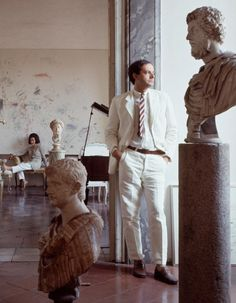 Cy Twombly and his wife in their home in Rome, Italy, 1966. Photographs by Horst P. Horst. They appeared in Vogue's Book of Houses, Gardens, People published in 1968.