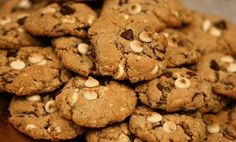 Homemade cookies with almonds and chocolate