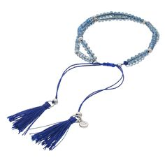 LC Lauren Conrad Birth Month Tasseled Slipknot Bracelet, Women's, Navy