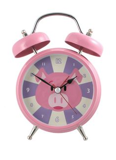 Silent Sweep No Tick Tock Talking Alarm Clock Pig