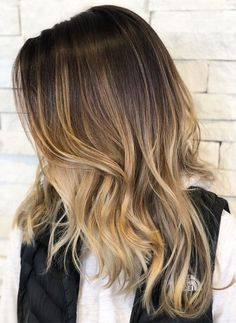 Ash Blonde Highlights With Golden Touches 2018