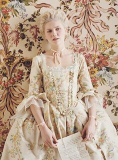 Kirsten Dunst in the title role of Marie Antoinette (2006). Period and costume drama.