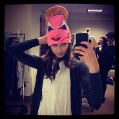 Pin for Later: 66 Celebrity Selfies That Don't Even Need a Filter  Pretty Little Liars star Troian Bellisario took a picture of herself in a funny hat in March 2013.  Source: Instagram user sleepinthegardn