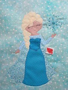 Aplique Elsa - Frozen Desenho e execução Cris Miyke Ateliê www.facebook.com/crismiykeatelie cris.miyke.atelie@hotmail.com
