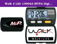 Walk 4 Life 13004A MVPA Digital Pedometer, Black. MVPA pedometer with 3D sensor technology allows users to measure all 3 phases of their daily timed physical activity in a passive, moderate and vigorous zone.