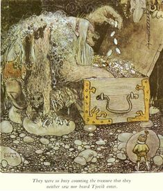 John Bauer, Swedish illustrator (1882-1918) from The Trolls and the Youngest Tomte, 1907