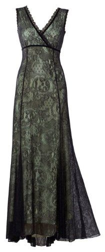 Stunning Evening Floor-Length Sleeveless Dress Designed by Michal Negrin from Her Lace Story Collection with Black Lace, Lining and Lace Trim   omg!!!!!!!!!!!