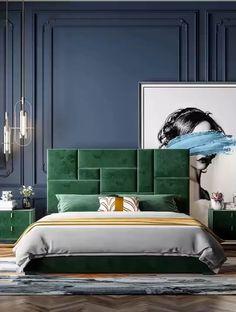 Luxury Bedroom Design, Master Bedroom Interior, Bedroom Bed Design, Bedroom Furniture Design, Home Room Design, Bedroom Wall Colors, Home Decor Bedroom, Art Deco Bedroom, Bed Back Design