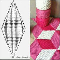 Diamond crochet join blanket cube pattern - My WordPress Website Crochet Afghans, Crochet Squares Afghan, Crochet Bedspread, Crochet Motifs, Granny Square Crochet Pattern, Crochet Blocks, Crochet Diagram, Crochet Stitches Patterns, Crochet Chart