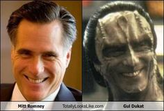 Mitt Romney is really Gul Dukat in disguise. This made me laugh out loud!