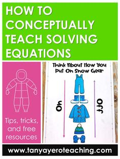 Read how to conceptually teach solving equations in middle school with FREE templates and math questions included. Gain tips and new ideas for teaching middle school math curriculum.