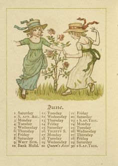 Greenaway, Kate, 1846-1901 (Artist). Almanack for 1889 DATES / ORIGIN Date Issued: 1888 Place: London ; Glasgow ; New York Publisher: George Routledge and Sons