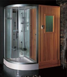 Ariel Steam Shower Sauna Combo Unit With Accupuncture Massage, Hydro  Massage Jets, Computerized LCD, Rainfall Ceiling Shower, Handheld  Showerhead ...