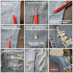 Distressing jeans: How To