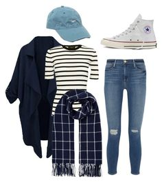 """""""Hong Seol Look #3"""" by livyoalivia ❤ liked on Polyvore featuring OBEY Clothing, Theory, Frame Denim, Accessorize and Converse"""