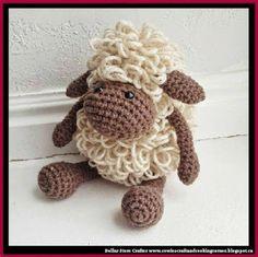 Dollar Store Crafter: Crochet Sheep (FREE PATTERN)