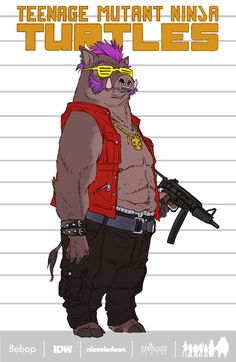 Social Waste Product: santolouco: Bebop and Rocksteady_Designs by...