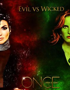 Awesome Evil Queen Regina and Zelena on an awesome Once poster Evil vs Wicked Abc Tv Shows, Movies And Tv Shows, Regina Ouat, Once Upon A Time Funny, Swan Queen, Captain Swan, What To Make, Film Serie, Happy Endings