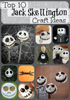 Jack Skellington is pretty much the mascot for Halloween right after the Jack-O-Lantern and Frankenstein. These top ten Jack Skellington crafts will help your Nightmare Before Christmas be the best Halloween ever! This little Jack Skellington Keychain from Little Things Blogged makes me want to learn to crochet! (Or knit, I can never tell those …