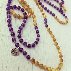 Golden eye & ametista handmade necklaces 55 € compresa eventuale spedizione