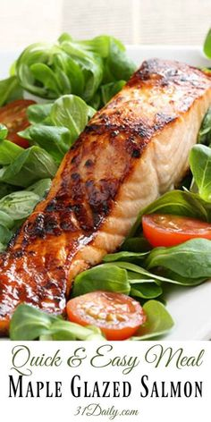 Glazed Wild King Salmon - Quick and Easy Meal Maple Glazed Wild Salmon Sockeye Salmon Recipes, Grilled Salmon Recipes, Oven Salmon Recipes, Wild Salmon Recipe Baked, Grilled Salmon Marinade, Easy Healthy Salmon Recipes, Simple Salmon Recipe, Best Salmon Recipe Baked, Fresh Salmon Recipes