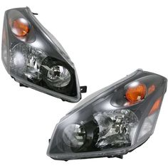 Headlights Headlamps Pair Set Left LH & Right RH for 04-09 Nissan Quest #AftermarketReplacement