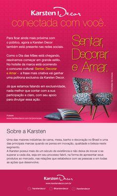 Concurso Cultural Sentar, Decorar e Amar - Karsten Decor.