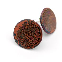 Slow Jewellery made using the ancient traditional technique of Japanese Urushi Lacquer. Coloured layers slowly built up overtime, sanded and polished to a mirror finish. Check out my Etsy and Instagram for more information. Round Earrings, Layers, Cufflinks, Trending Outfits, Jewelry Making, Unique Jewelry, Handmade Gifts, Japanese, Traditional