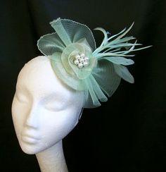 Mint Green Emily Fascinator Mini Hat