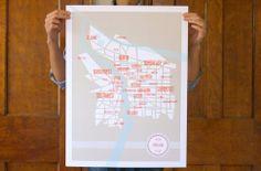 City Map Print - Portland