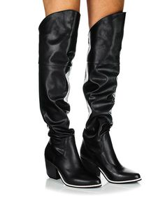 6dad566b879 Loving this Black Victoria Over-the-Knee Boot on  zulily!  zulilyfinds
