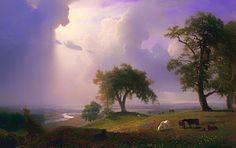 California Spring Albert-bierstadt Painting - California Spring by Albert Bierstadt