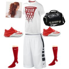 Basketball by tizzie1234 on Polyvore featuring polyvore, interior, interiors, interior design, home, home decor, interior decorating and NIKE