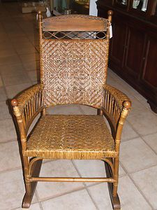 VTG 1950s Franco Albini Style Rattan Rocking Chair For Children Child Italy  | Rattan Rocking Chair, Rocking Chairs And Rattan