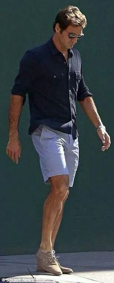 Roger Federer  Can you imagine the photos we will get when his 2 boys are about 18 to 20. Sure the boys will follow in his love of fashion and we will have photos of 3 men who look fabulous in all kinds of fashion!!!